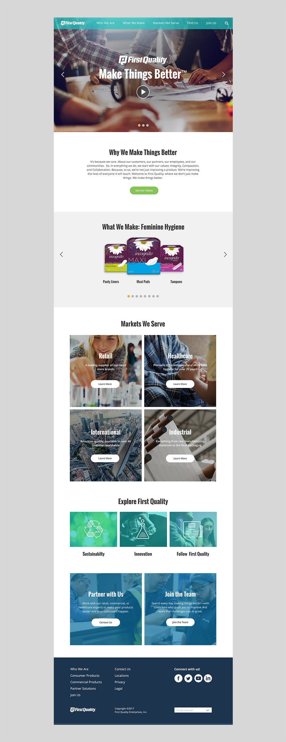 First Quality responsive website