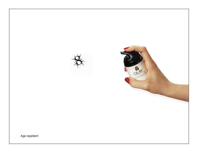 """""""AGE REPELLENT"""" print campaign - Olay"""