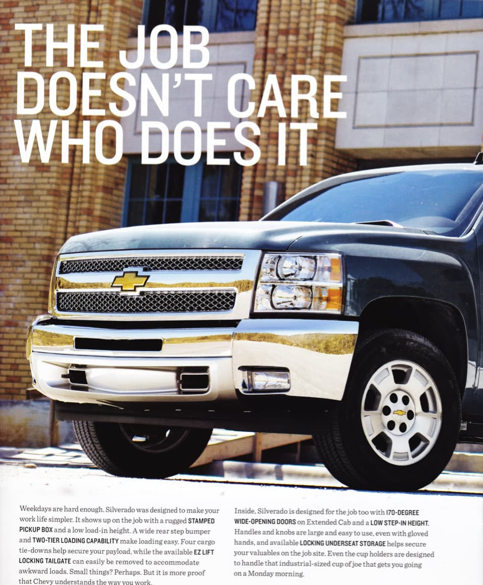 Chevy catalogues