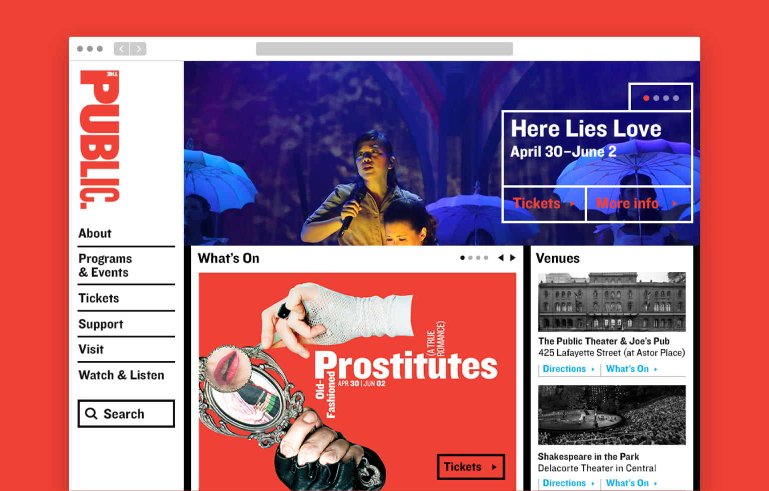 The Public Theater Website Redesign