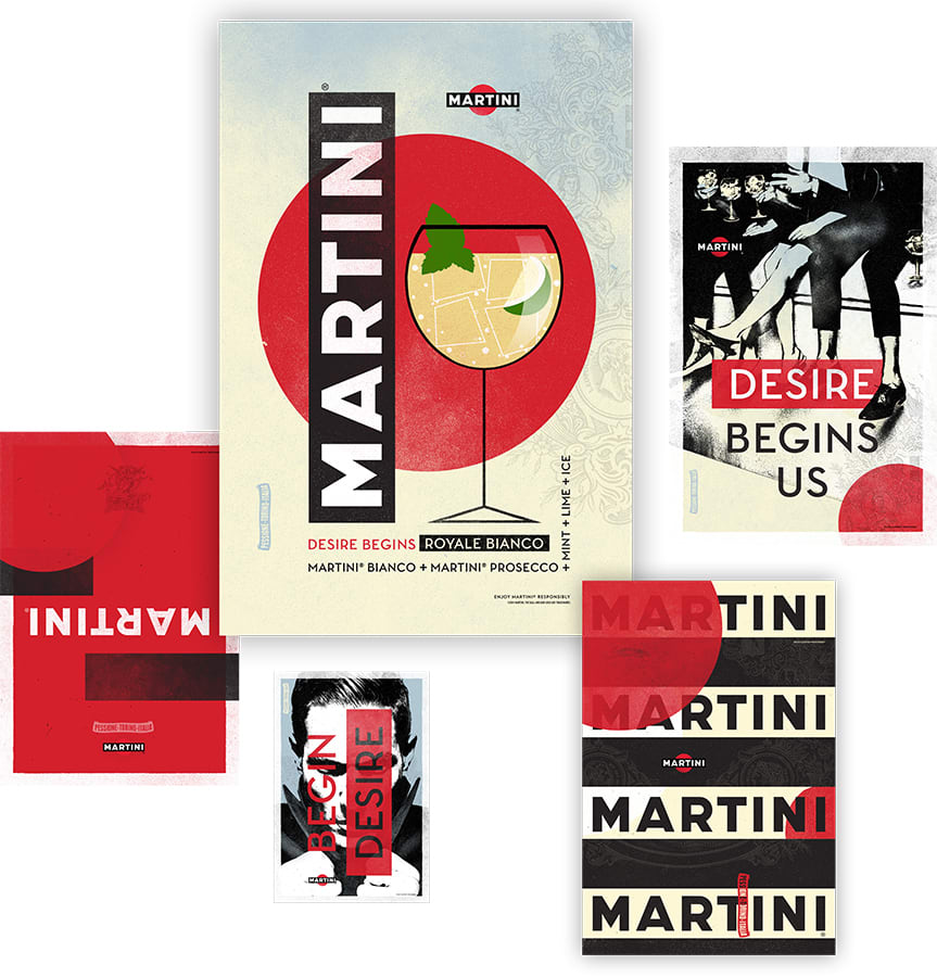 Martini global brand planning, brand design, advertising and experiences