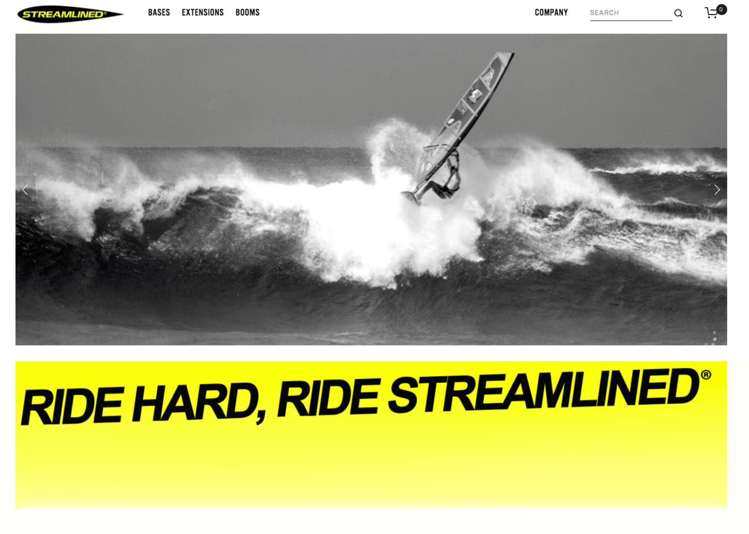 STREAMLINED WINDSURFING E-Commerce