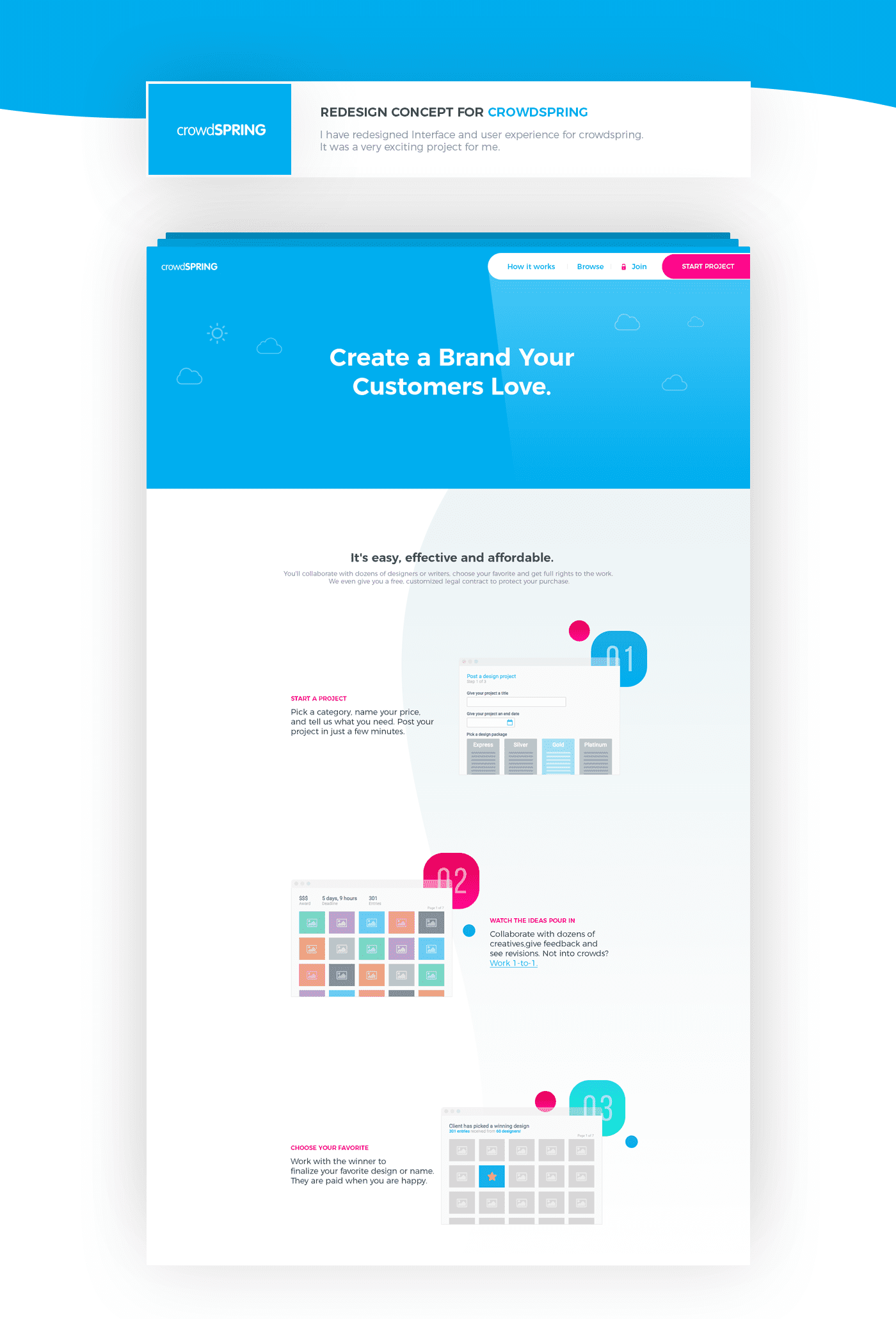 Crowdspring - Redesign Concept