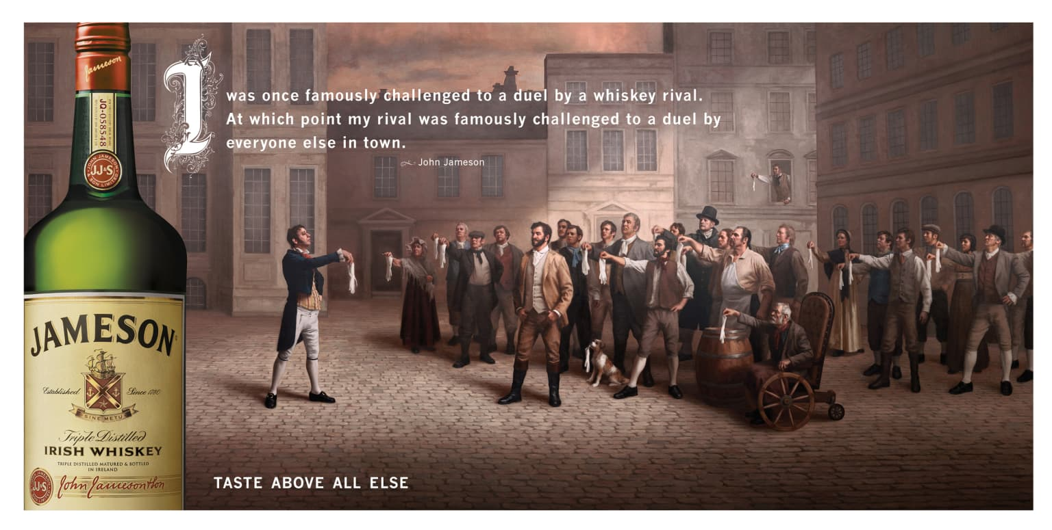 Jameson Irish Whiskey TV, Print, OOH