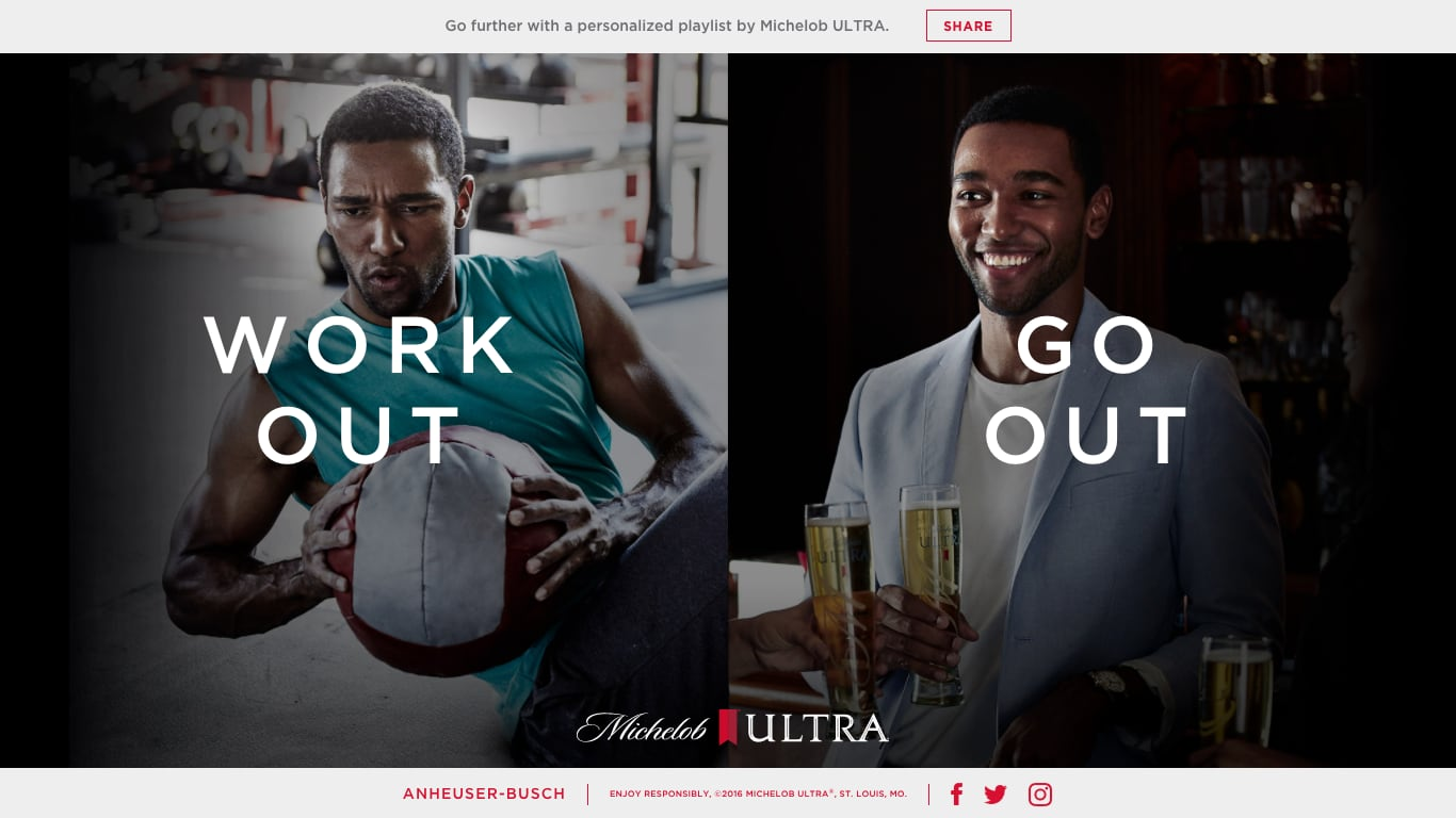 Michelob Work Out or Go Out