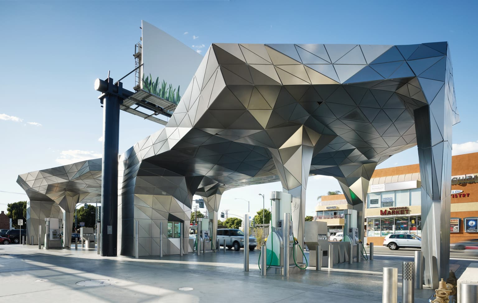 A living lab for sustainable design and building practices (at a gas station)