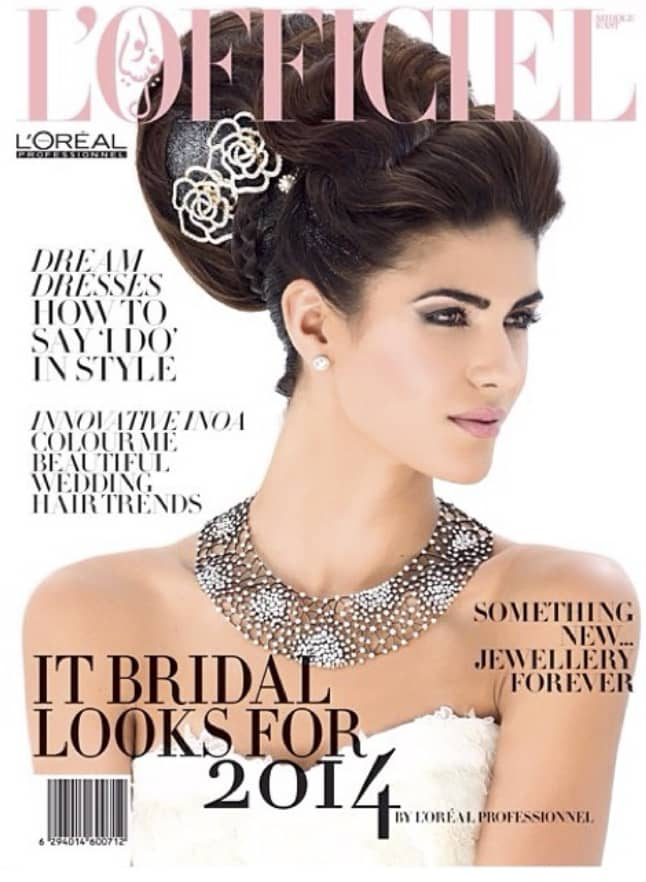 Bridal Looks for L'Oreal in L'Officiel Middle East