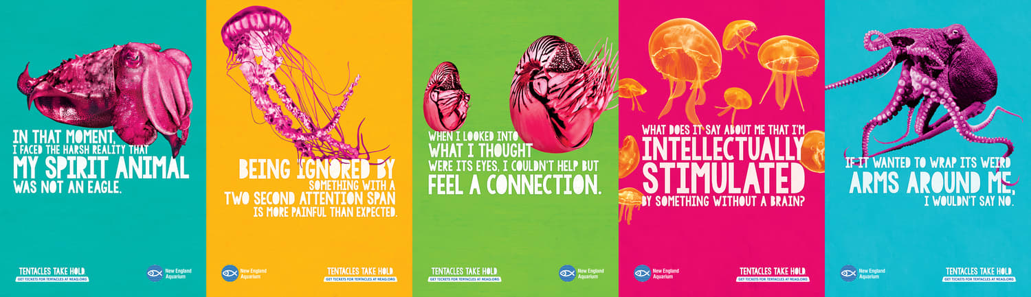 The New England Aquarium - Tentacles Take Hold Campaign