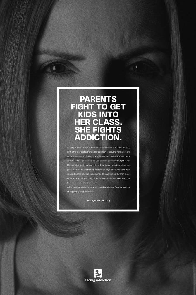 Facing Addiction   Change The Face