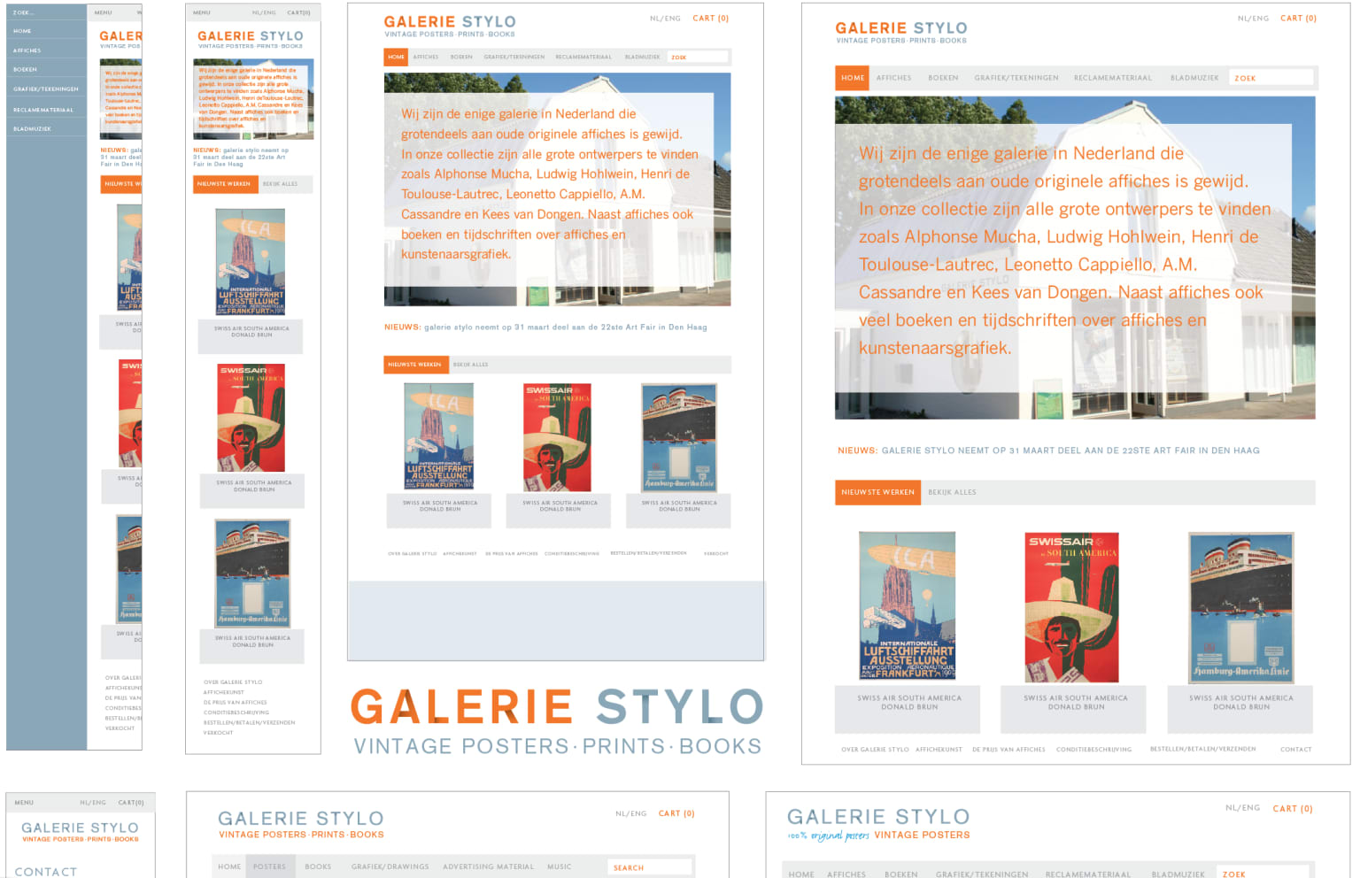 Brand identity and website Gallery Stylo