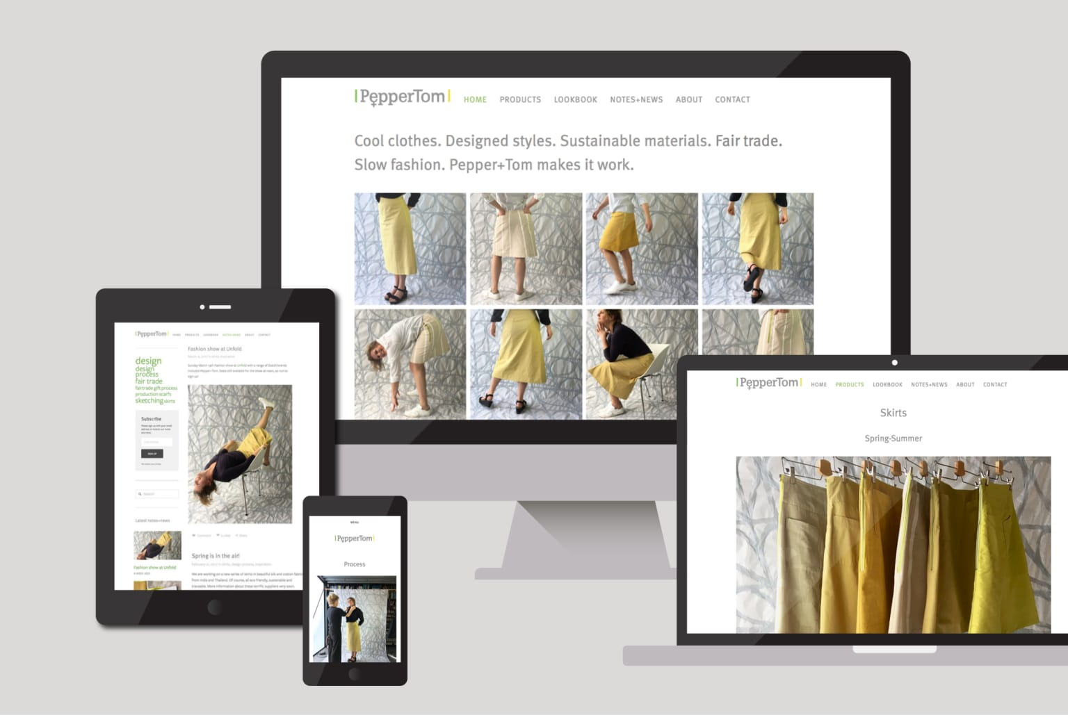 Fairtrade fashion label website