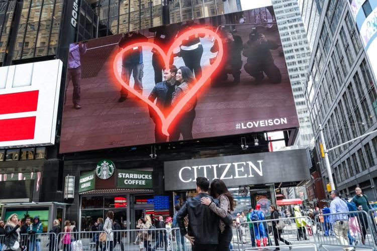 Revlon Love Is On Interactive Times Square Billboard