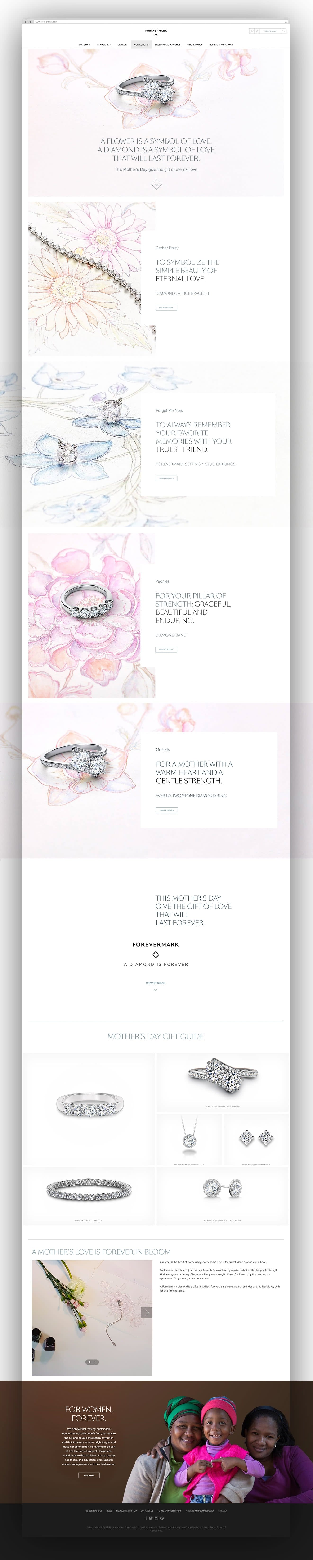 Forevermark - web, social & campaign copy