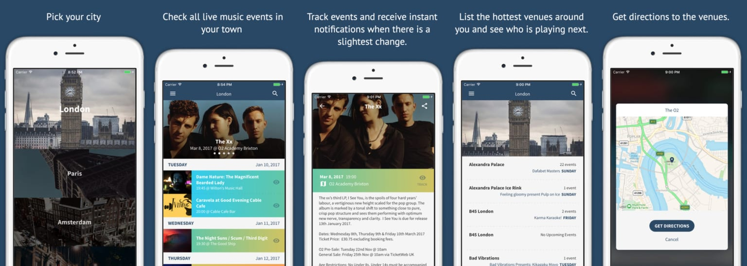 """""""fofomo"""" Live music discovery iOS application"""