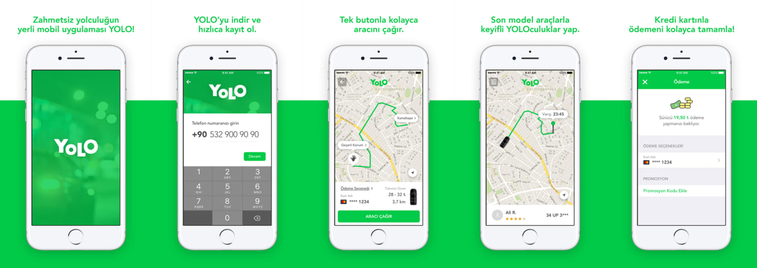"""""""YOLO"""" - Uber for Istanbul iOS application"""