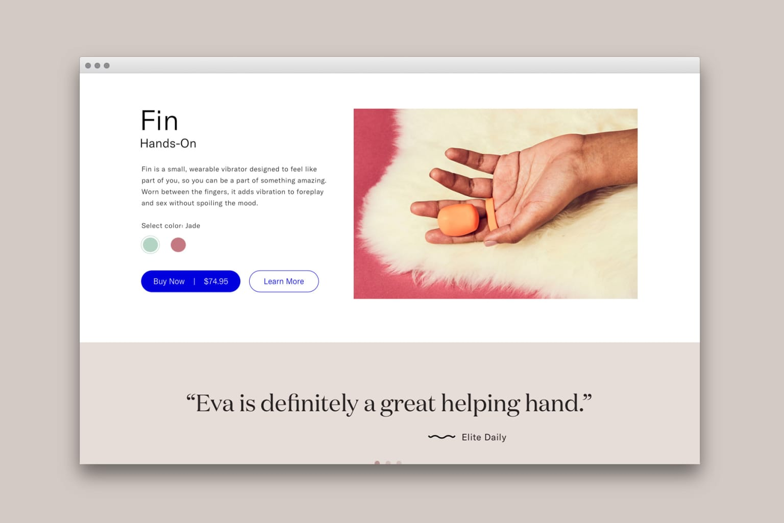 Dame Products eComm UI/UX
