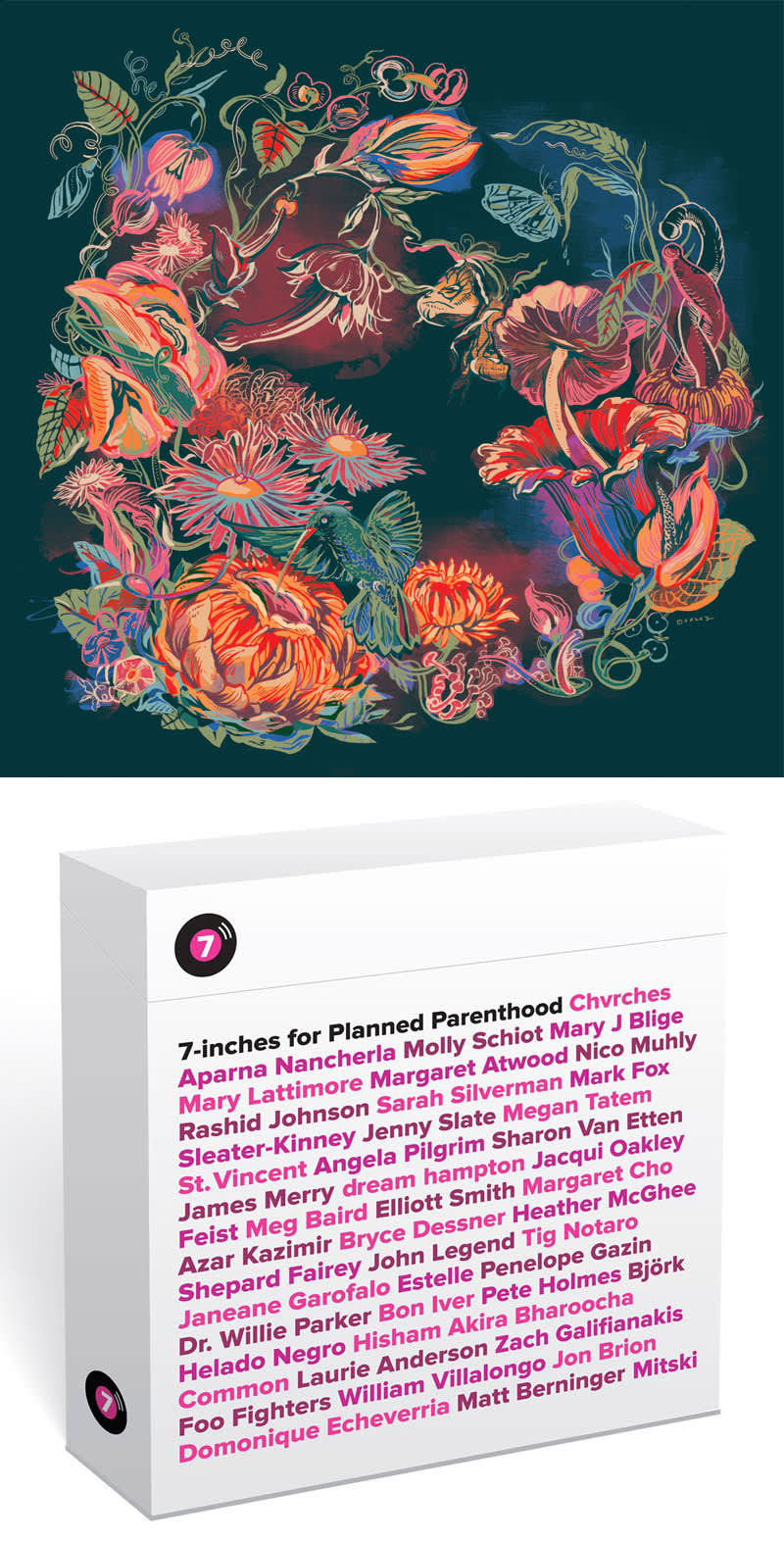 Vinyl Cover Artwork | 7 Inches for Planned Parenthood
