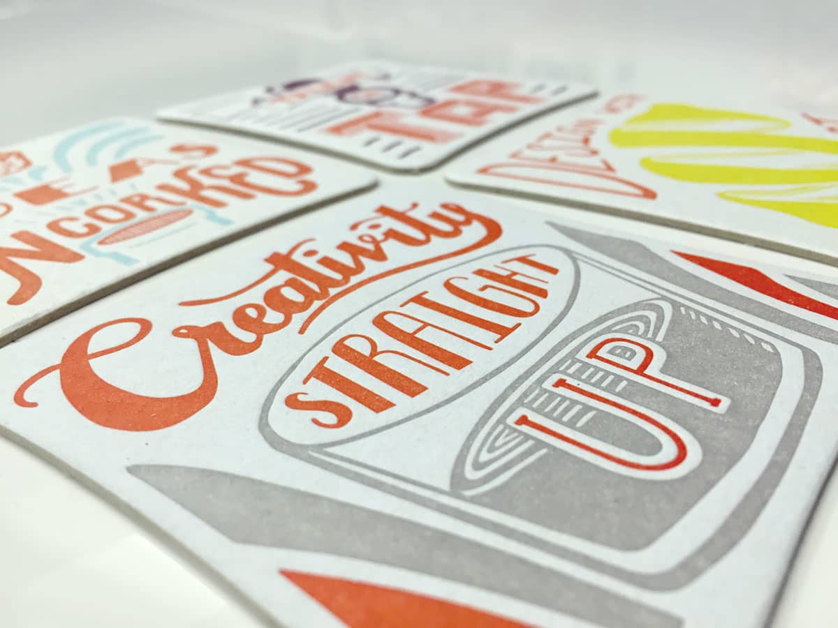 Hand Lettered Coasters