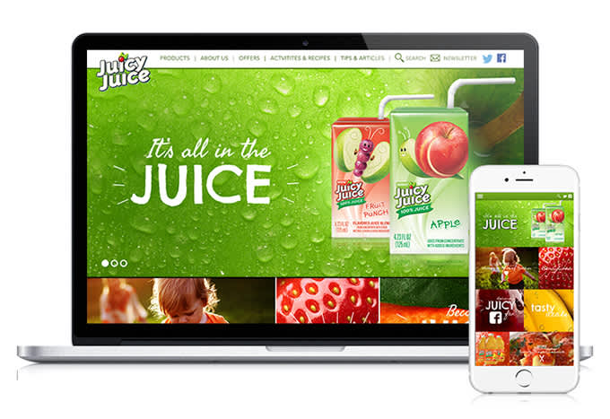 Juicy Juice website concept