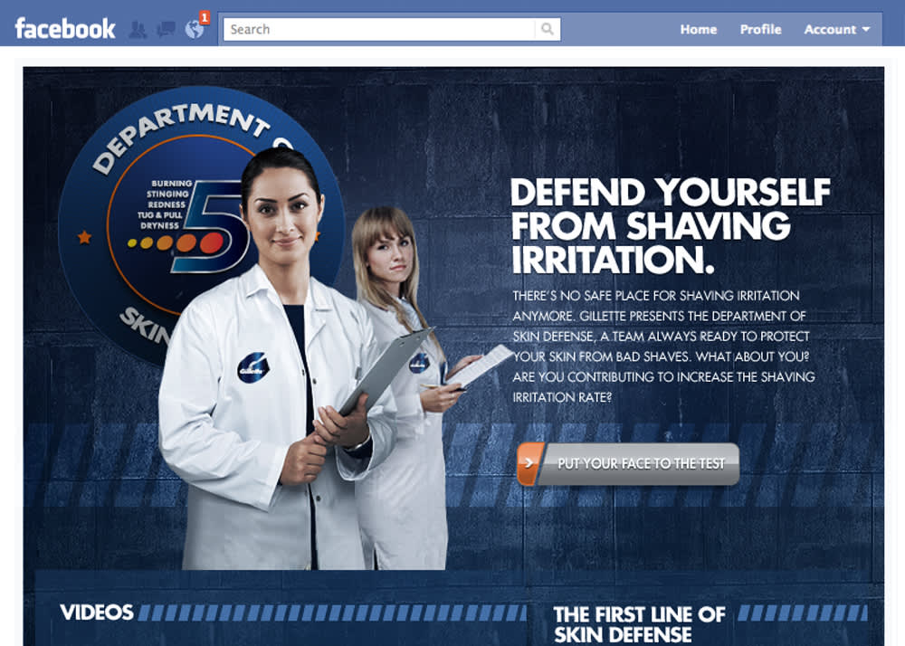 Gillette: Welcome to The Department of Skin Defense