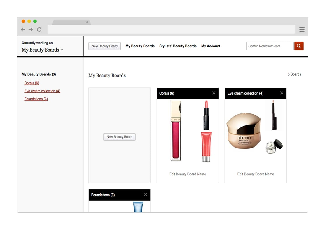 Nordstrom Beauty Boards