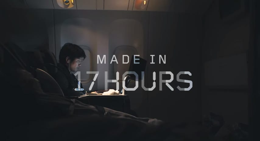 Toshiba 'Made in 17 hours'