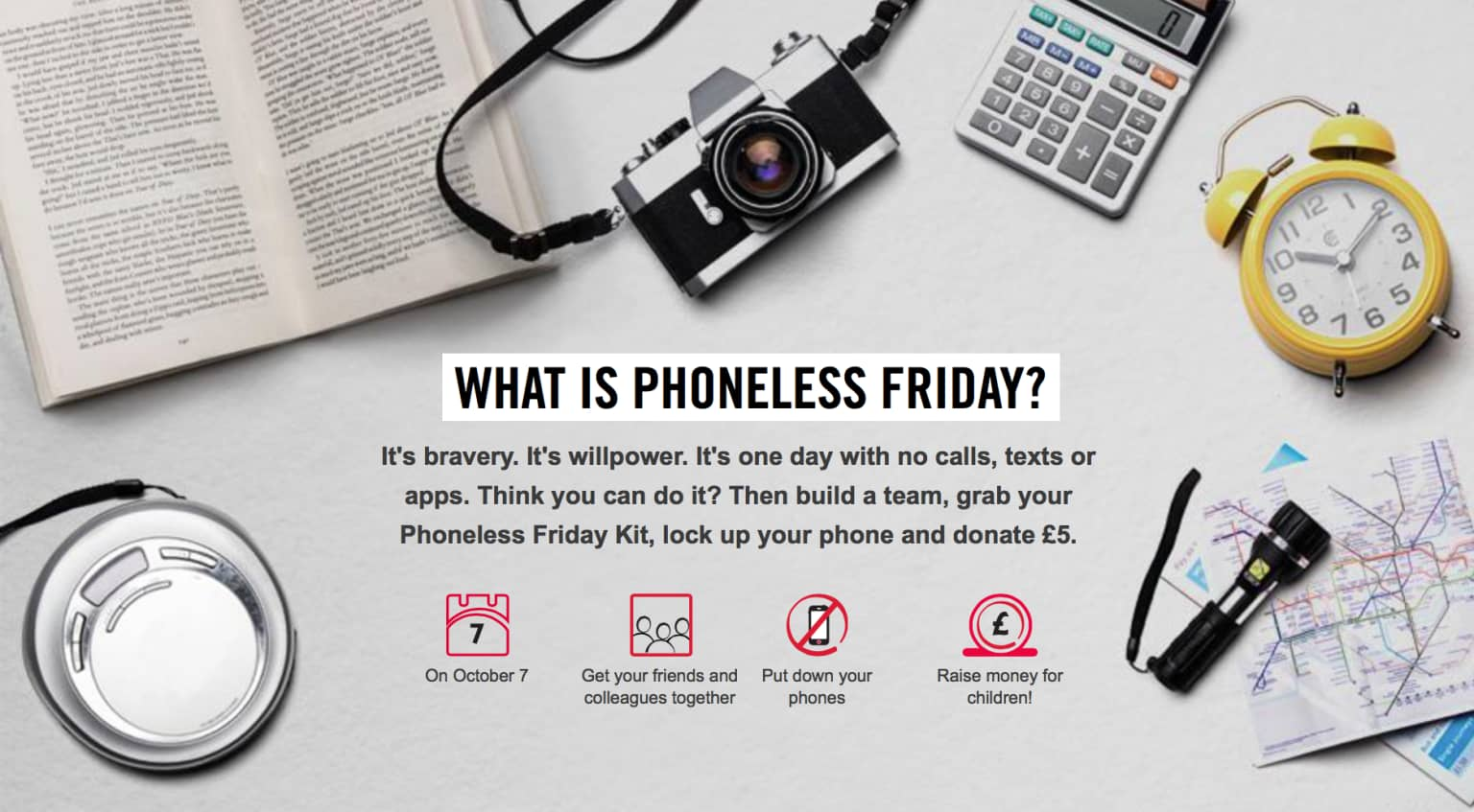 Phoneless Friday for Save The Children
