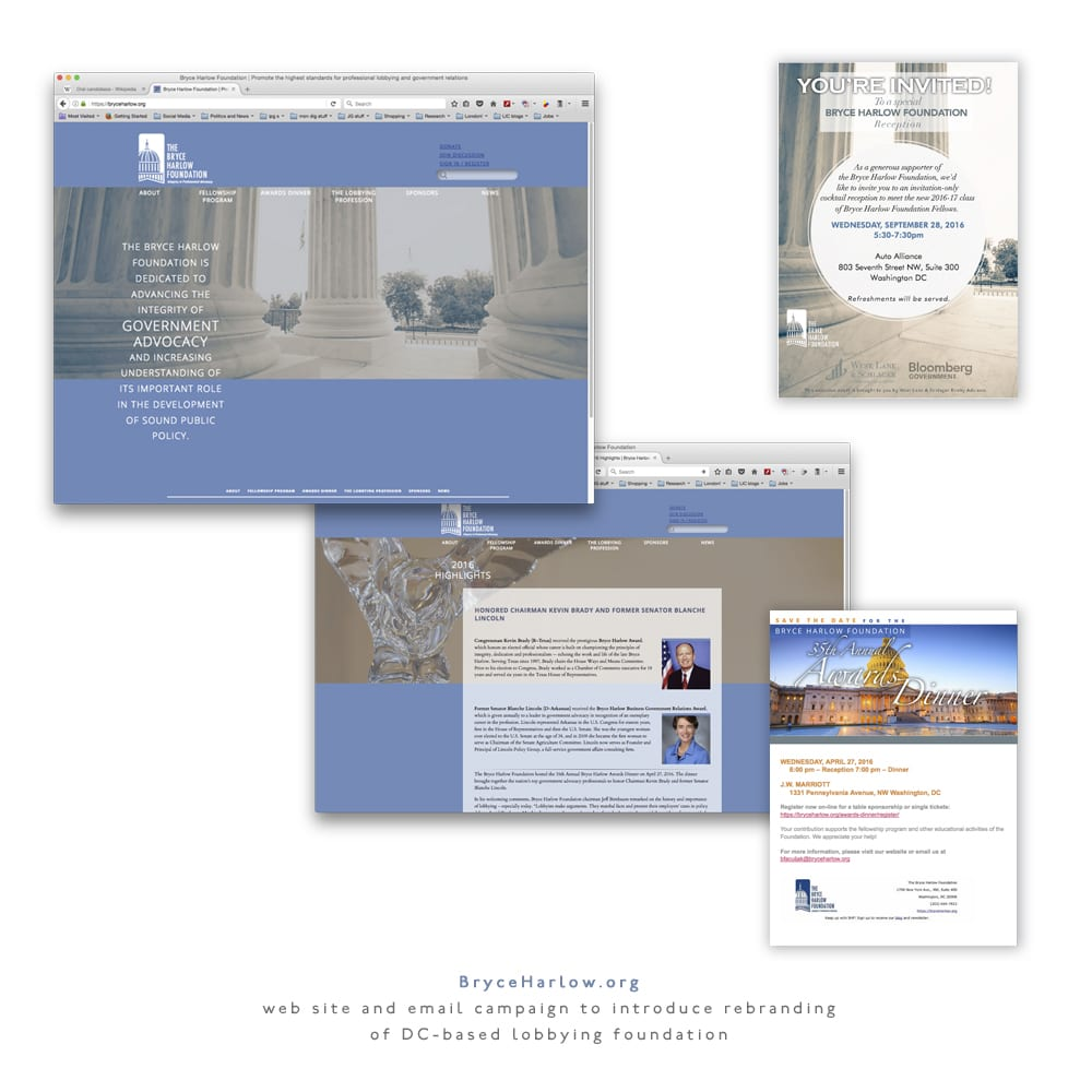 Bryce Harlow Foundation web site redesign