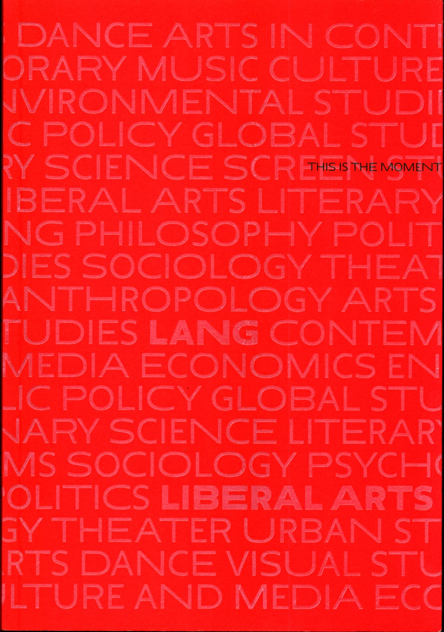 Admissions Book for Eugene Lang College of the Liberal Arts
