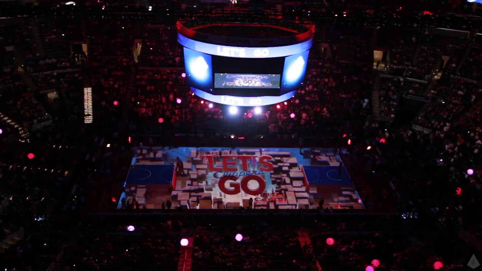 Los Angeles Clippers   Court Projection   Gameday Intro