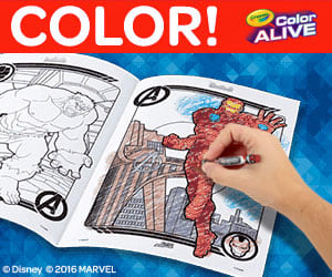 Crayola, Color Alive product promotion.