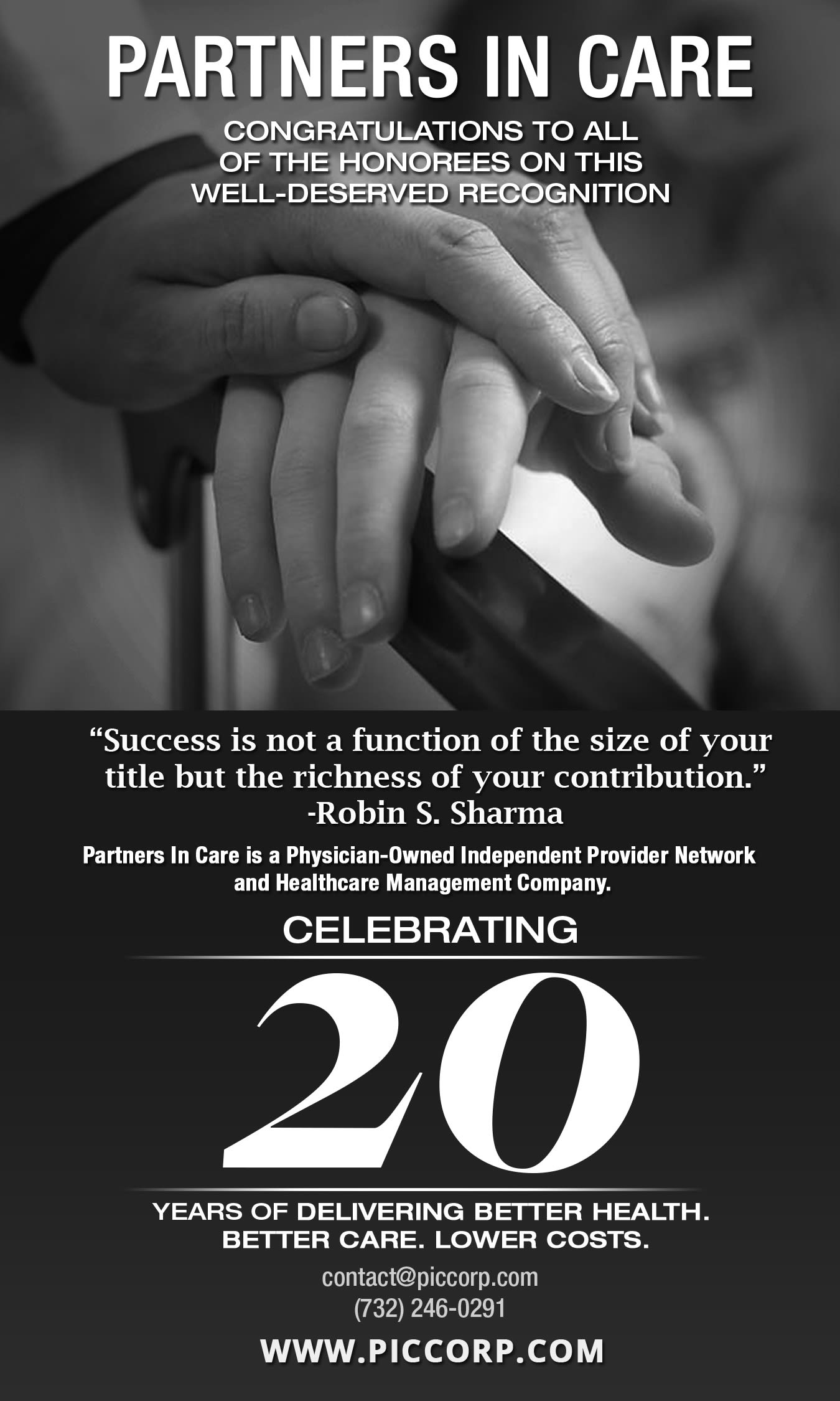 Partners In Care 20th Anniversary