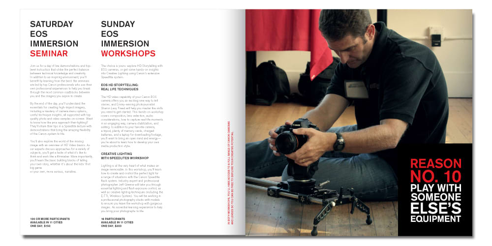 Canon Live Learning Workshops