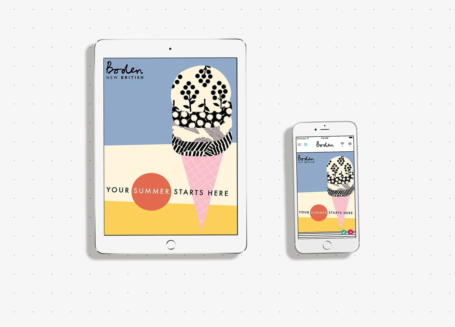 Digital Catalogue Cover for Boden