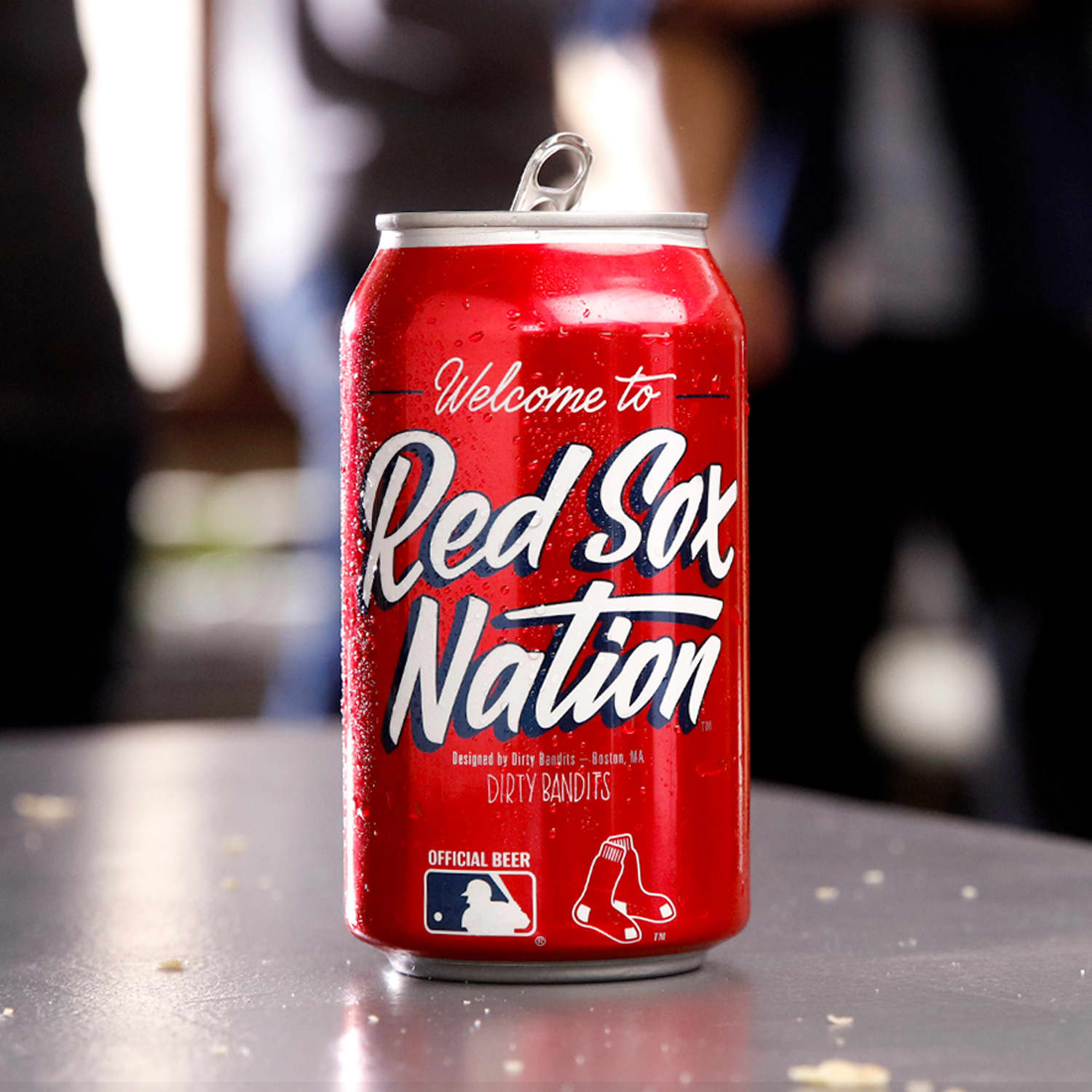 Budweiser MLB can for Red Sox