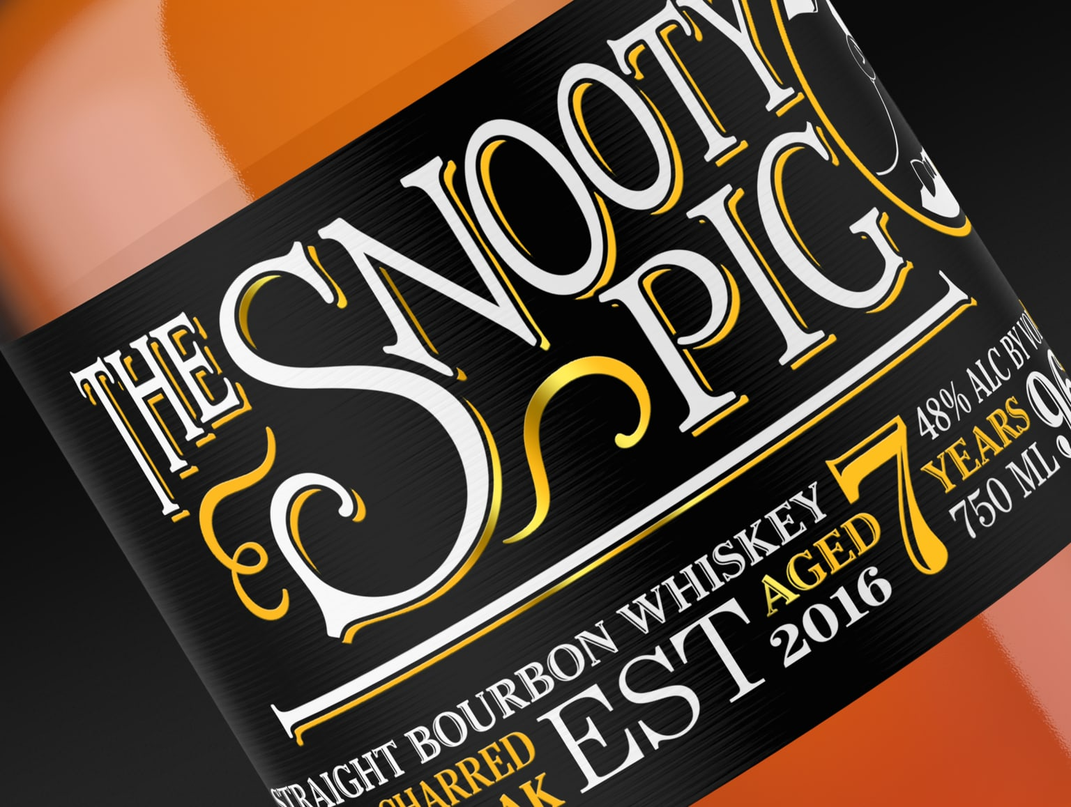 The Snooty Pig whiskey: Brand Identity | Package Design