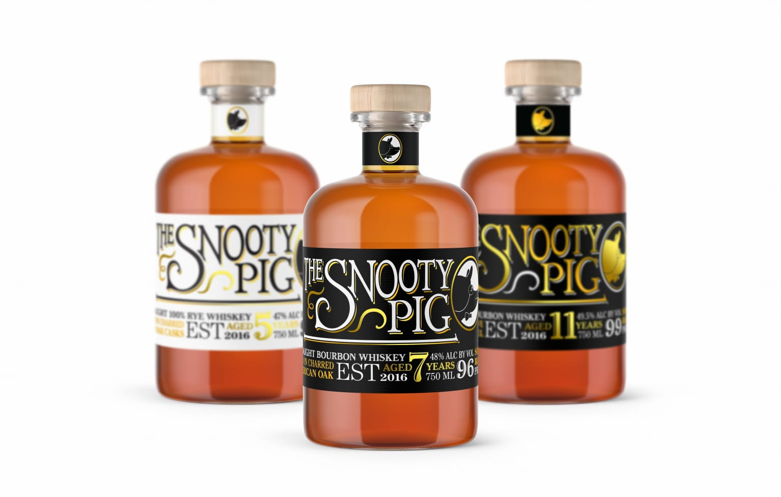 The Snooty Pig whiskey: Brand Identity   Package Design