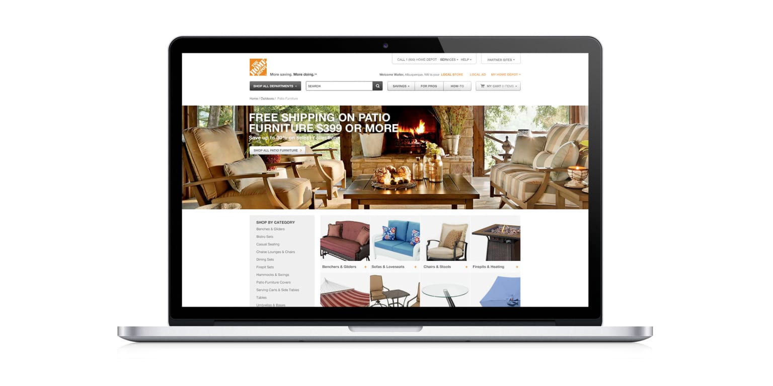 The Home Depot Website Redesign