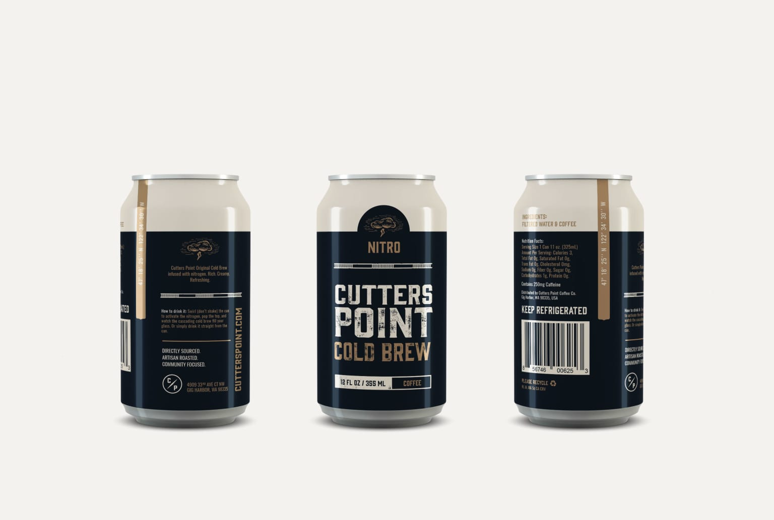 CUTTERS POINT COFFEE CO. COLD BREW PACKAGING