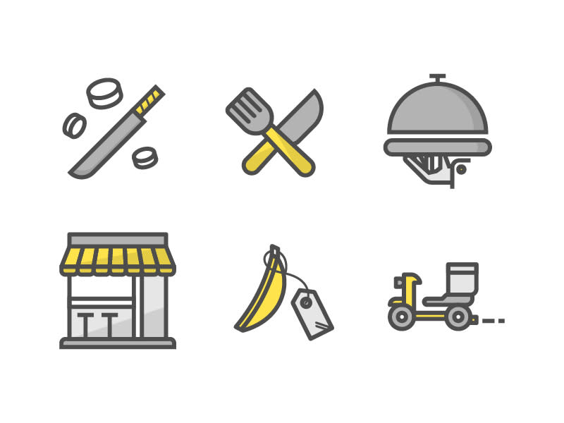 Icons for Food Industry