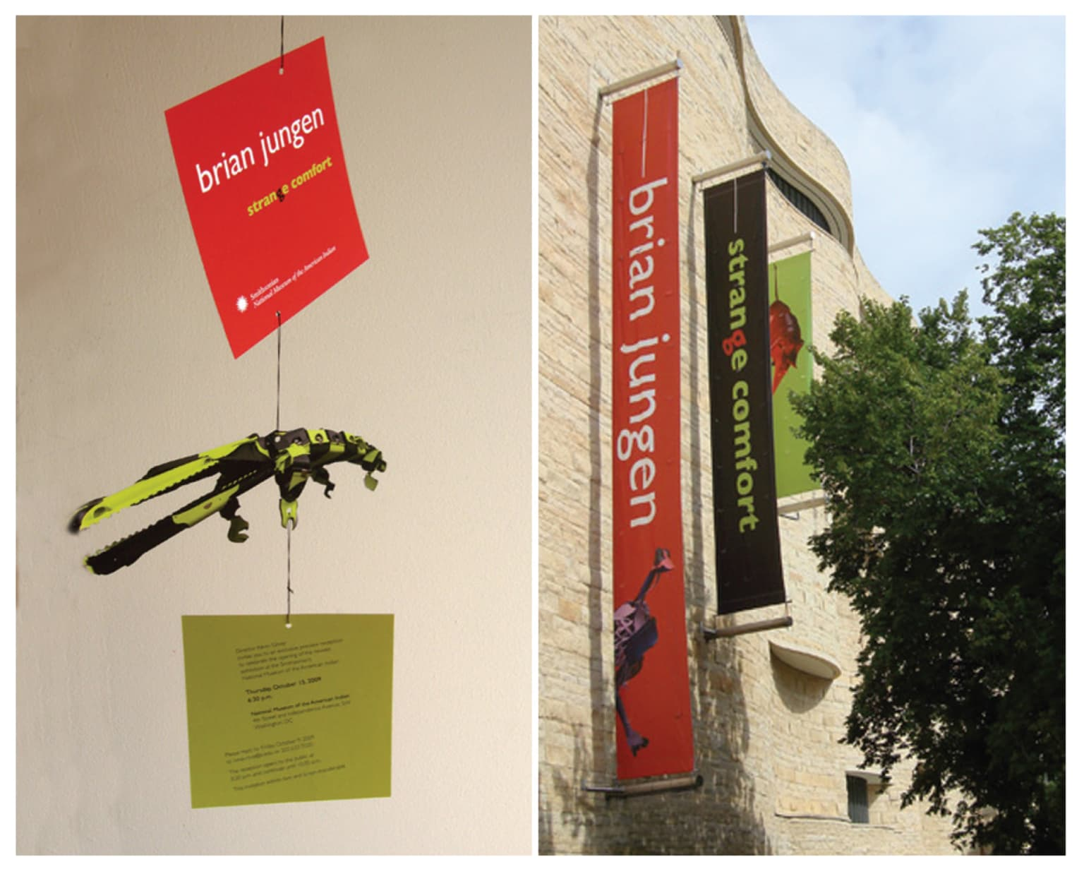 National Museum of the American Indian Exhibition Identity (signage, invitation, brochure, etc.))