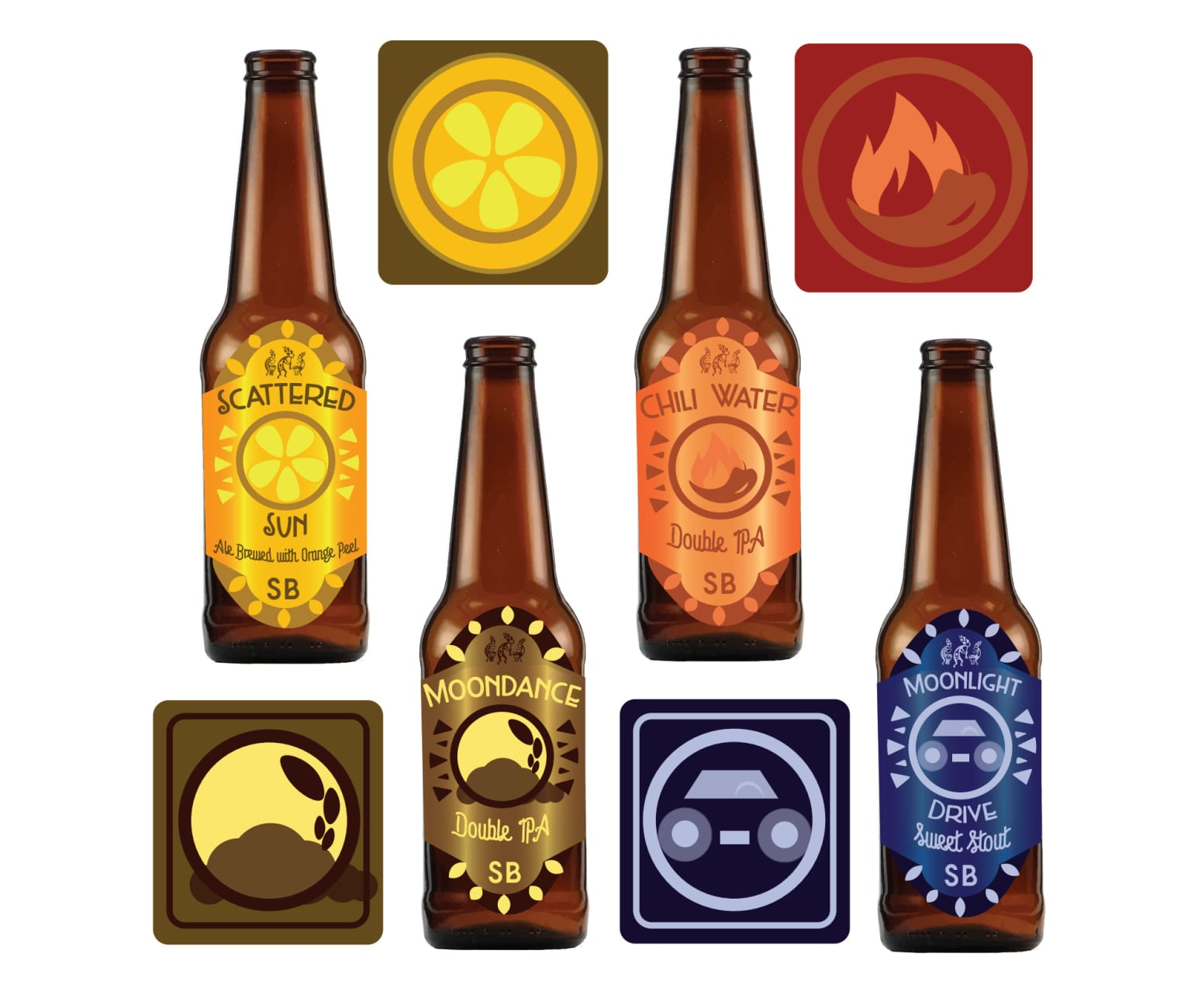 Southbound Brewery Beer Labels