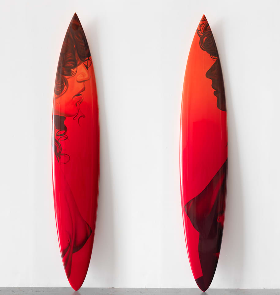 Design and execution of Surfboard prints for Richard Phillips Studio