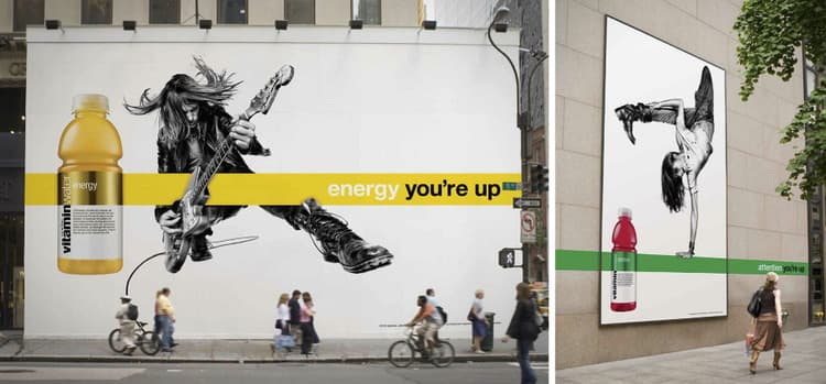 vitaminwater you're up OOH campaign