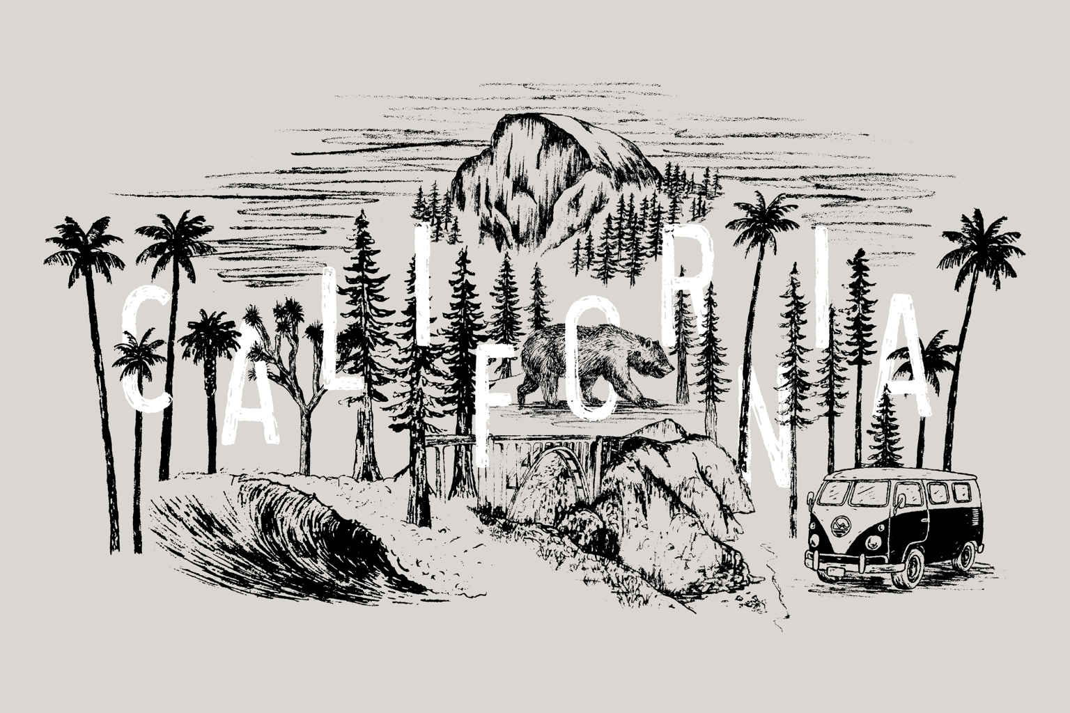 Be Outfitter - California Illustration