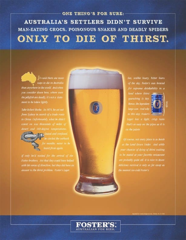 Foster's Lager Print and Poster Campaign