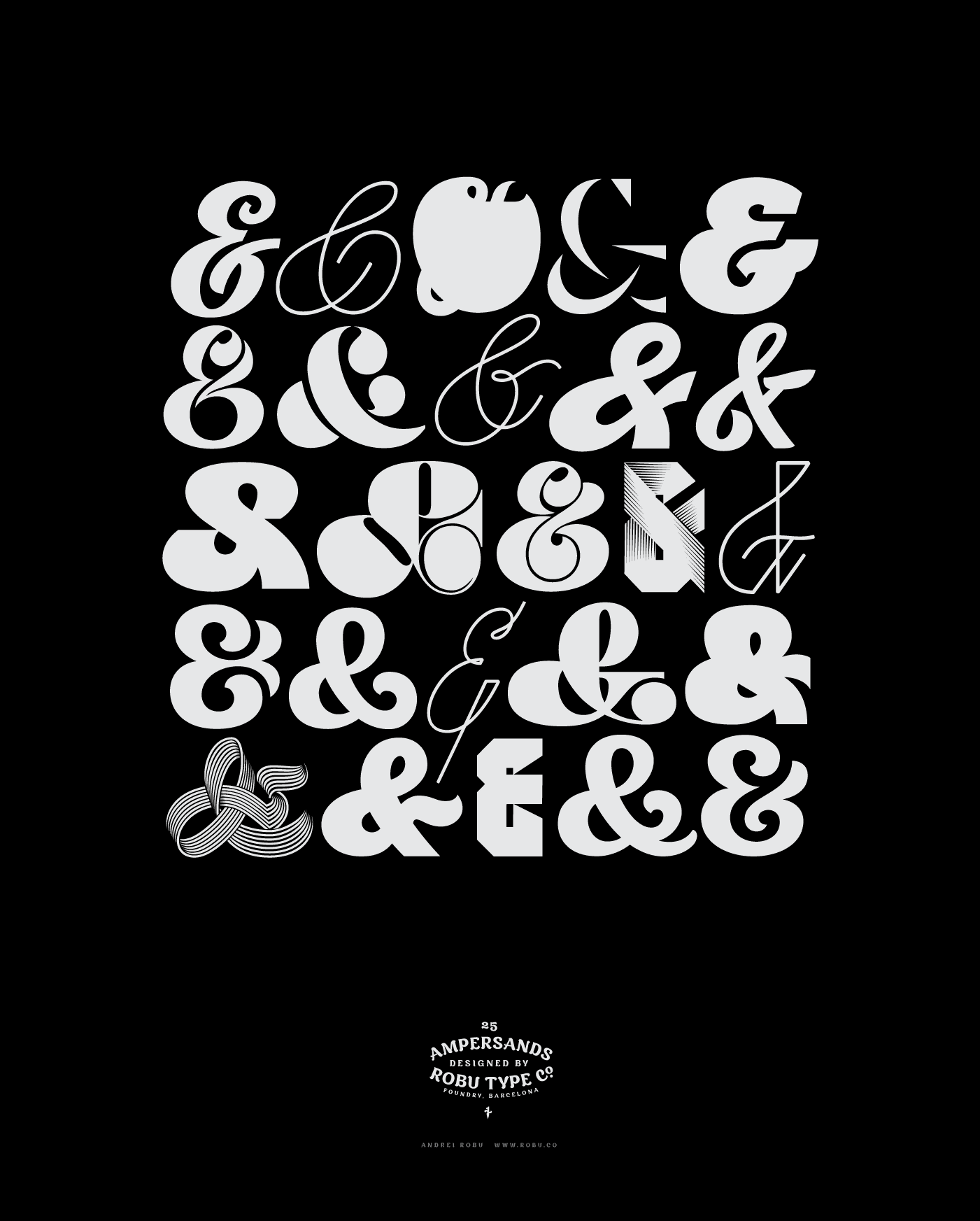 Type lettering archive