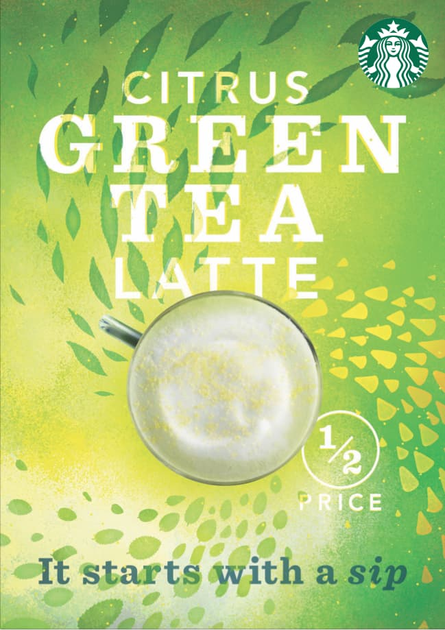 Starbucks Citrus Green Tea Latte