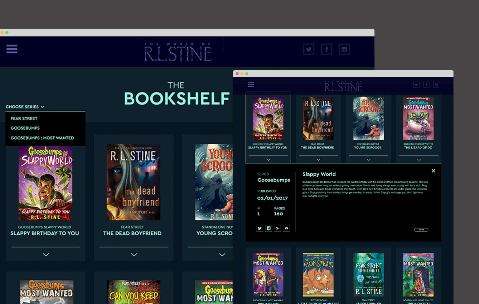 R.L. Stine Identity and Website