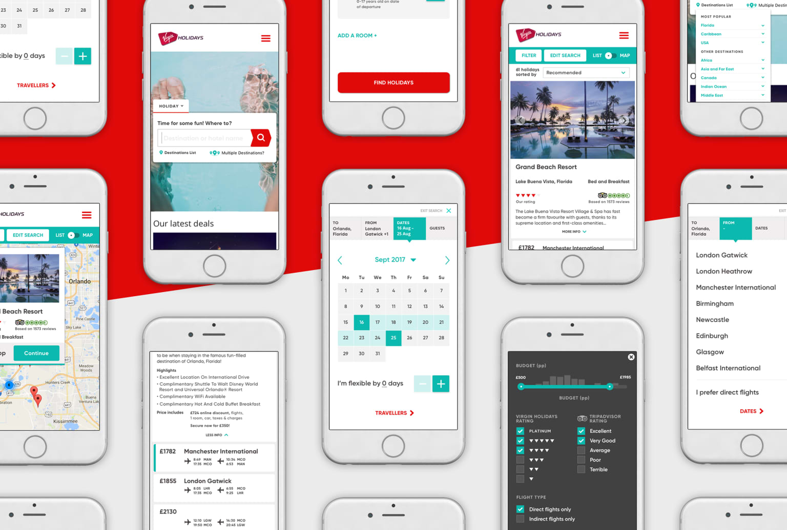Virgin Holidays' search journey